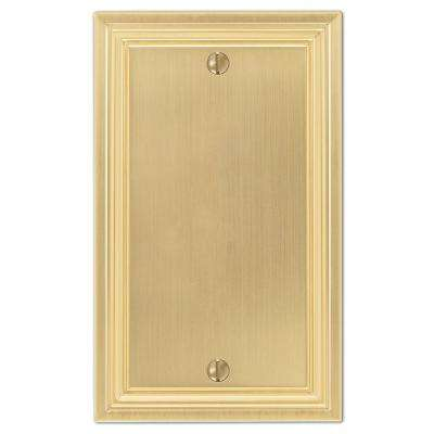 Hallcrest 1 Gang Blank Metal Wall Plate - Satin Brass