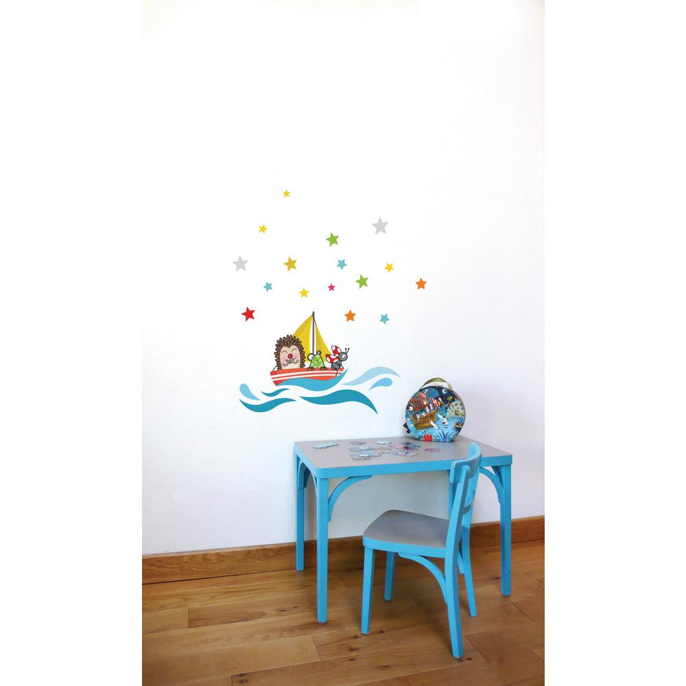 278 In X 313 In Multi Color Little Ship Kids Wall Decal L6049