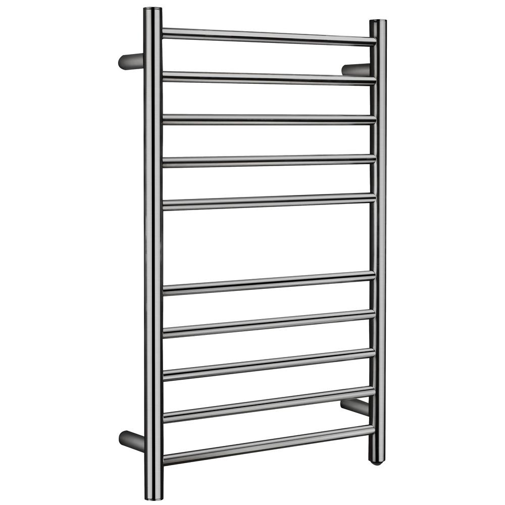 ANZZI Bali Series 10-Bar Stainless Steel Wall Mounted Electric Towel Warmer in Brushed Nickel