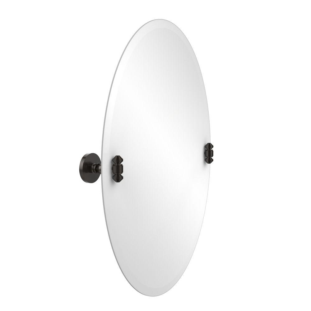 South Beach Collection 21 in. x 29 in. Frameless Oval Single