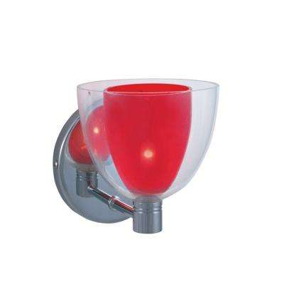 1-Light Low-Voltage Red Companion Wall Sconce