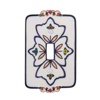 European Cottage 1 Toggle Wall Plate - White