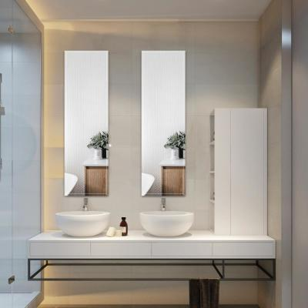 12in. x 47in. Beveled Frameless Full Length Mirror