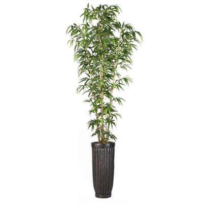 93 in. Bamboo Tree in Natural Poles in Planter