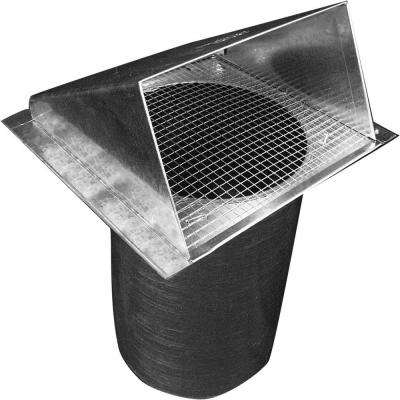 6 in. Dia Galvanized Wall Vent Hood with 1/4 in. Screen