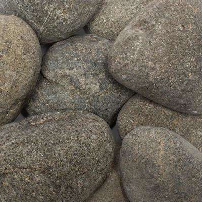 1 in. to 3 in., 2200lb. Grey Caribbean River Pebbles Super Sack