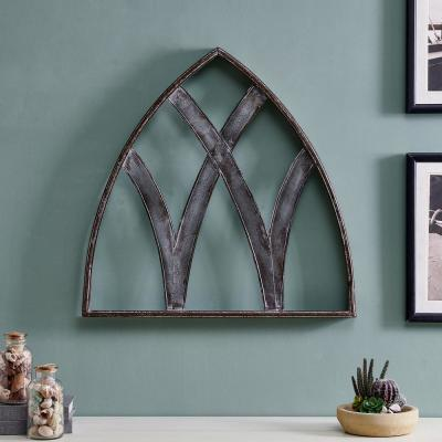32 in. x 31.5 in. Shiloh Aged Arch Wall Plaque Set