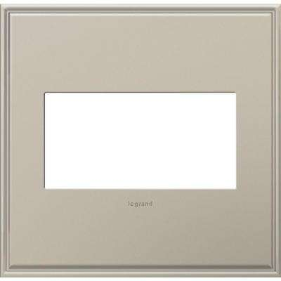 2-Gang 2 Module Wall Plate with Beaded Border, Antique Nickel