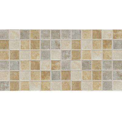 Sandalo Universal Blend 12 in. x 24 in. x 6 mm Glazed Ceramic Mosaic Floor and Wall Tile (2 sq. ft. / piece)