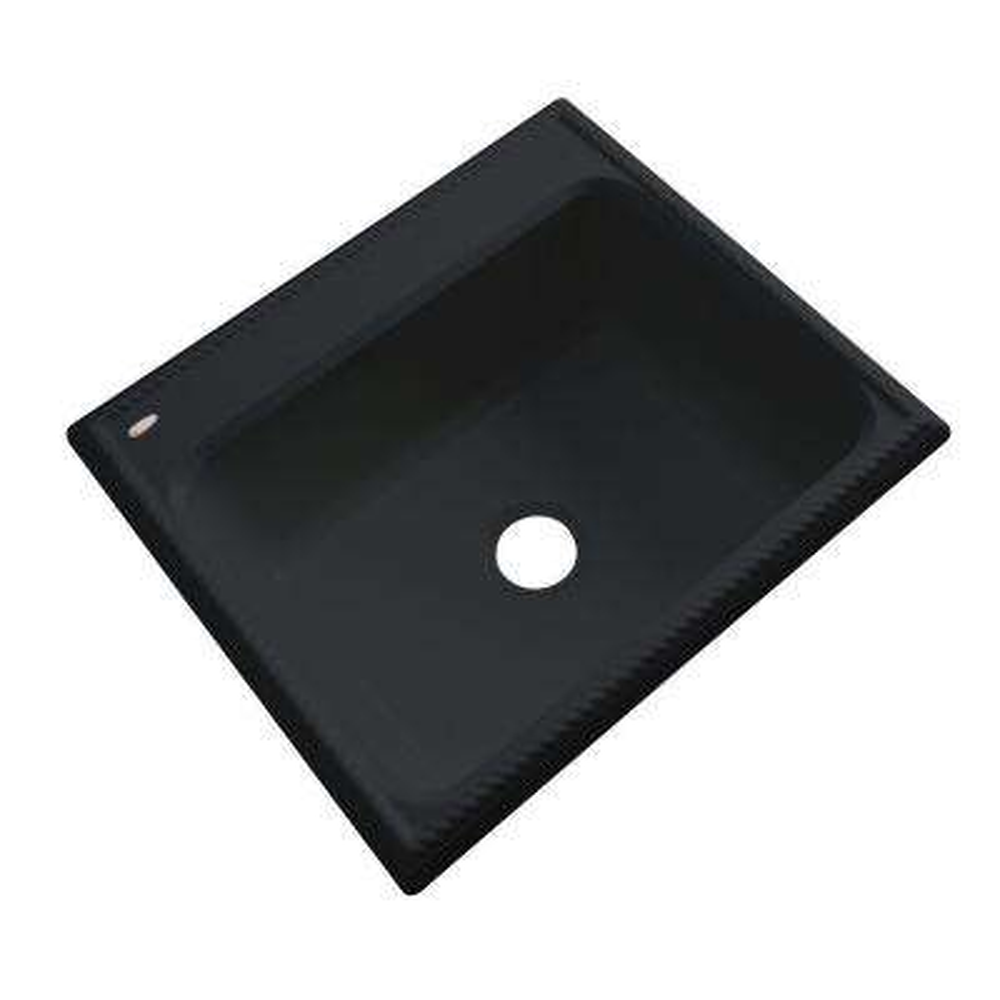Wentworth Drop-In Acrylic 25 in. Single Bowl Kitchen Sink in Black