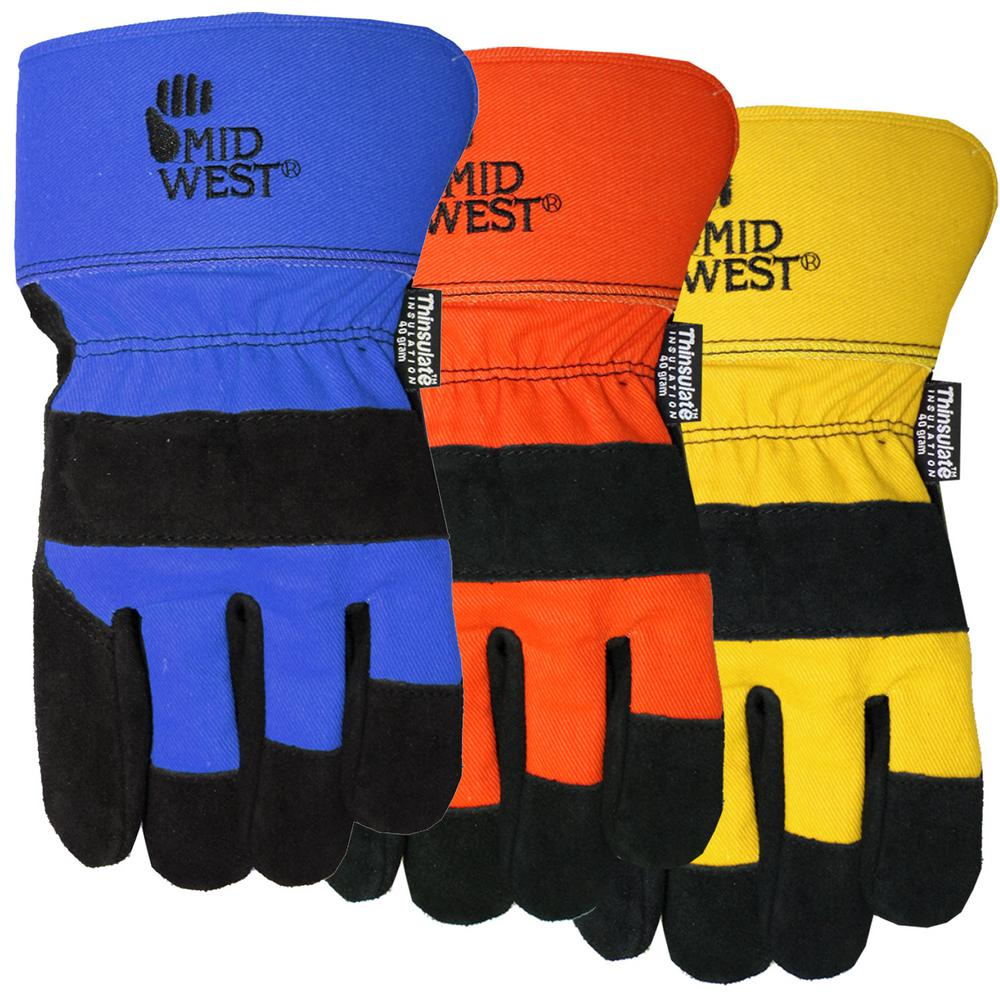 dee42a5c22 40 g Thinsulate Lined Suede Leather Glove-7751THOR-L-DS - The Home Depot