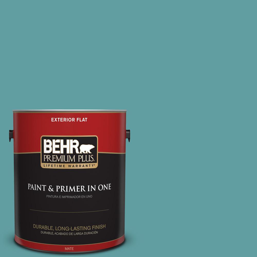 1 gal. #PPU13-05 Bali Bliss Flat Exterior Paint