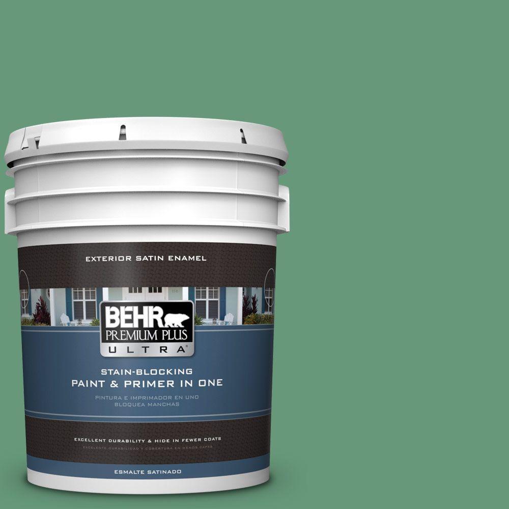 BEHR Premium Plus Ultra 5-gal. #470D-5 Herbal Satin Enamel Exterior Paint