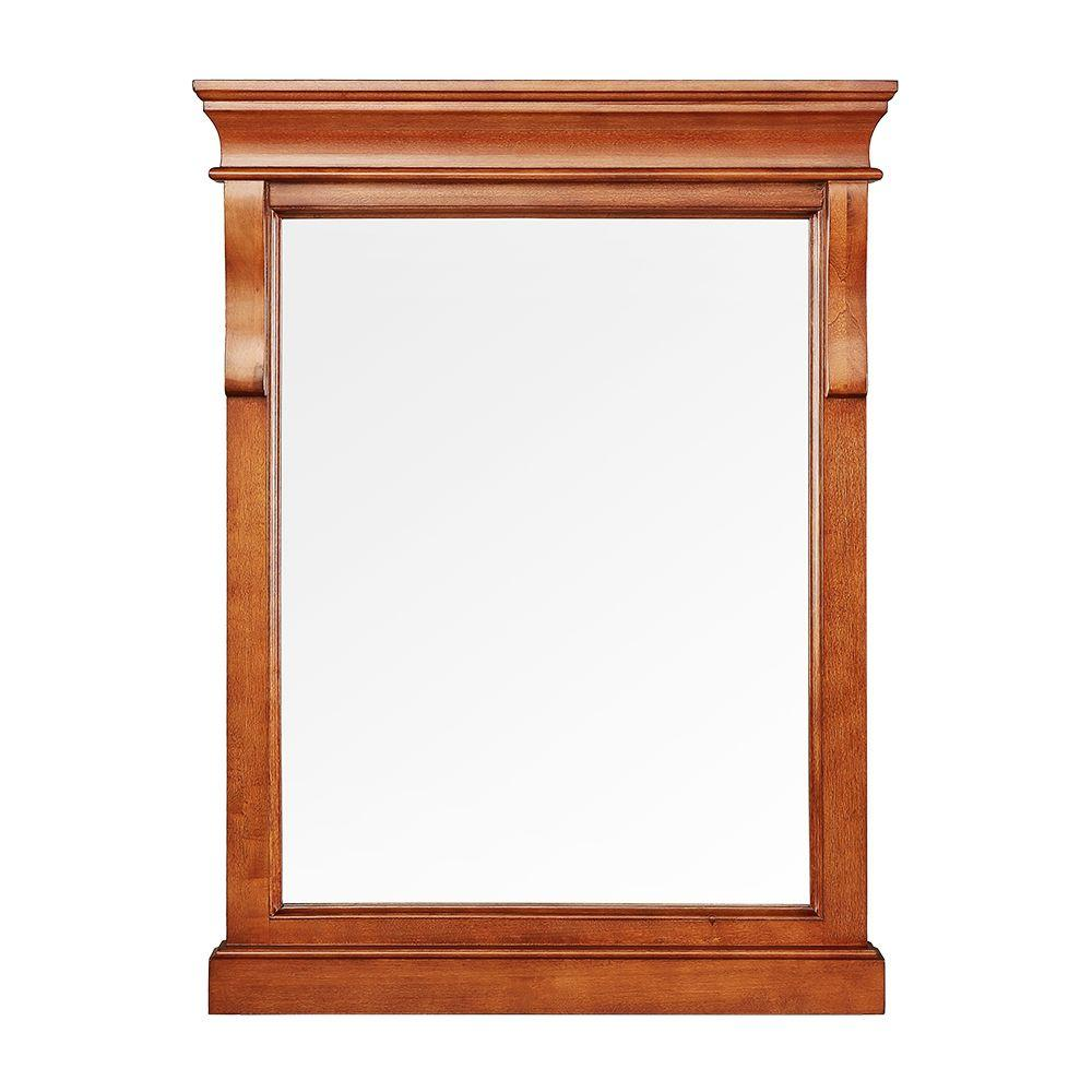 Foremost Naples 24 in. x 32 in. Wall Mirror in Warm Cinnamon