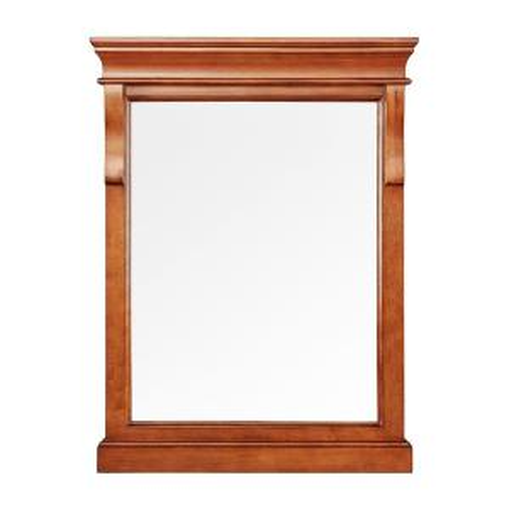 Naples 24 in. x 32 in. Wall Mirror in Warm Cinnamon