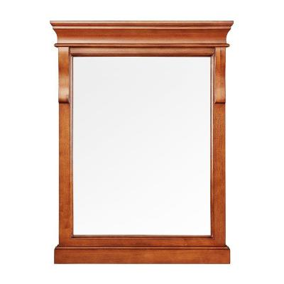 Naples 24 in. x 32 in. Wall Mirror in Warm Cinnamon