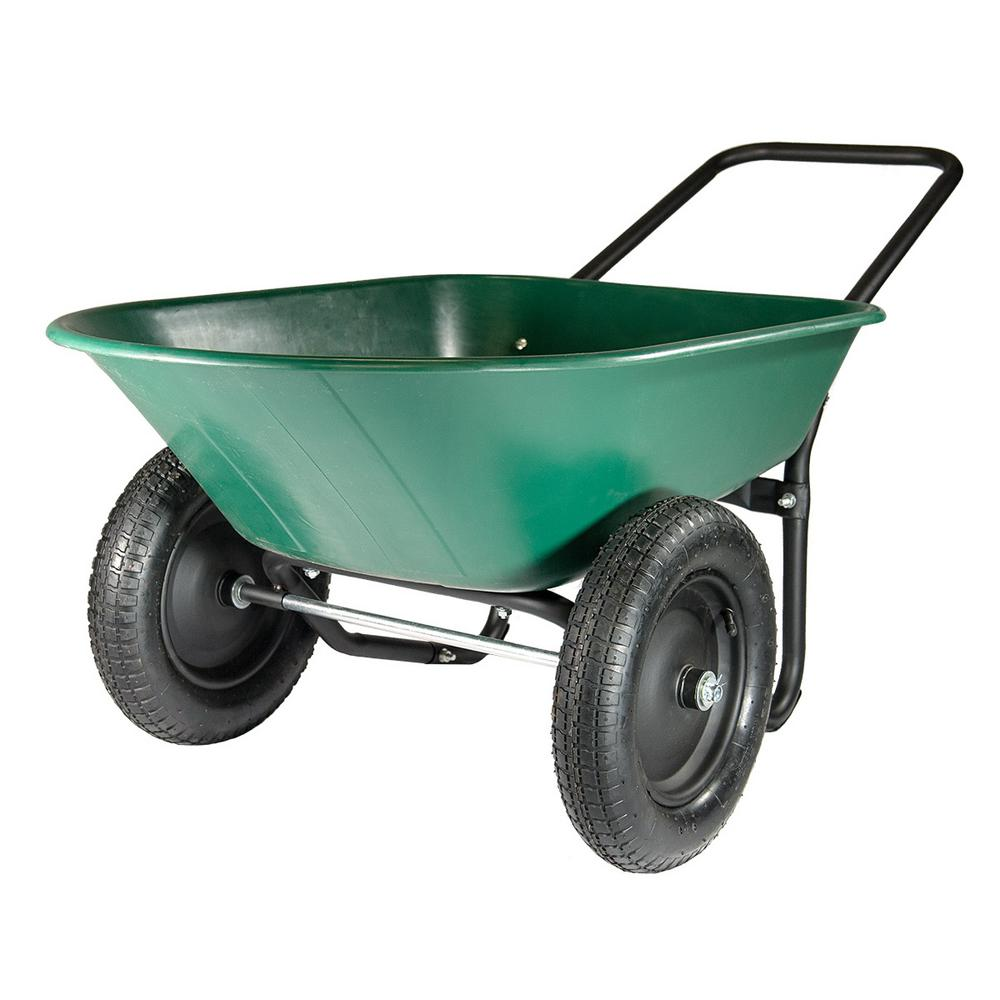 Yard Rover 5 cu. ft. Poly Dual-Wheel Residential Yard Cart