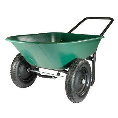 Poly Dual Wheel Residential Yard Cart