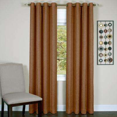 Taylor Cinnabar Polyester Lined Grommet Panel - 50 in. W x 63 in. L