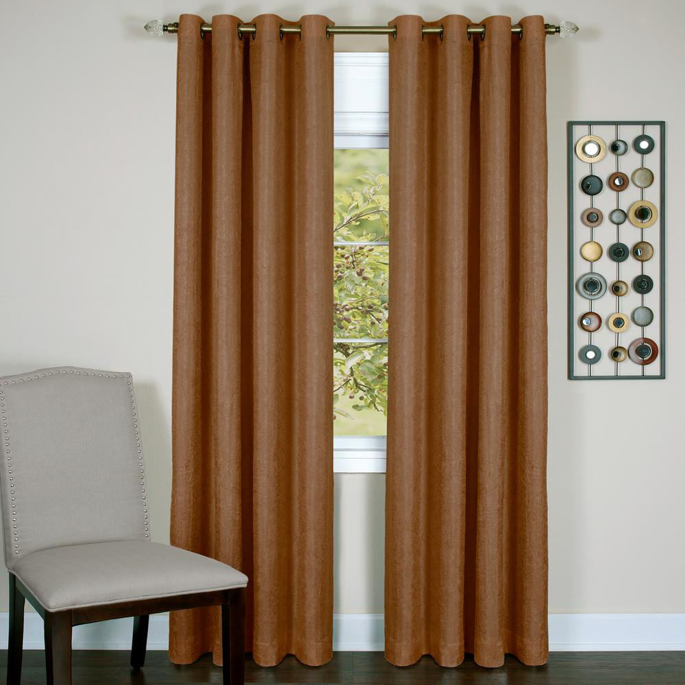 Taylor Cinnabar Polyester Lined Grommet Panel - 50 in. W x 84 in. L
