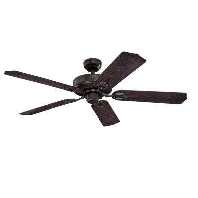 Deacon 52 in. Indoor/Outdoor Oil Rubbed Bronze Ceiling Fan