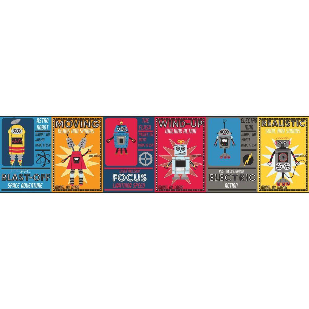Waverly Kids Robotic Wallpaper Border
