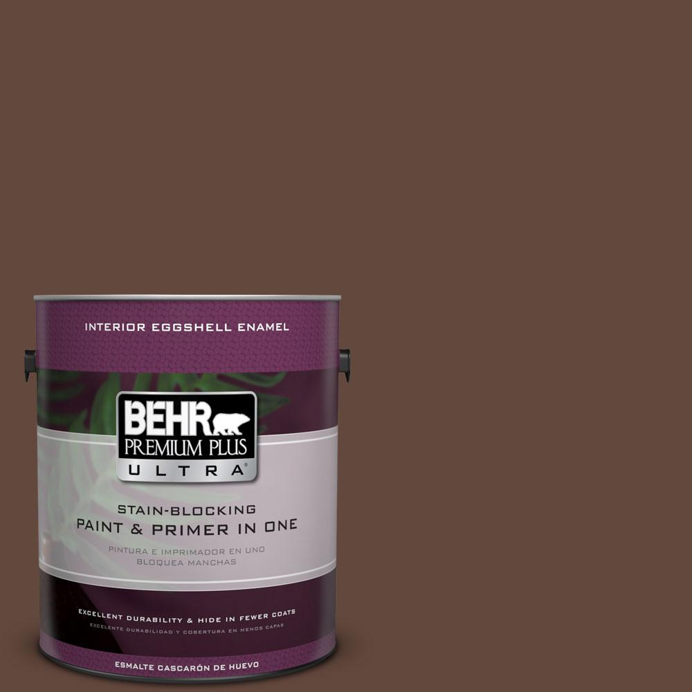 1 gal. #770B-7 Chocolate Sparkle Eggshell Enamel Interior Paint and Primer