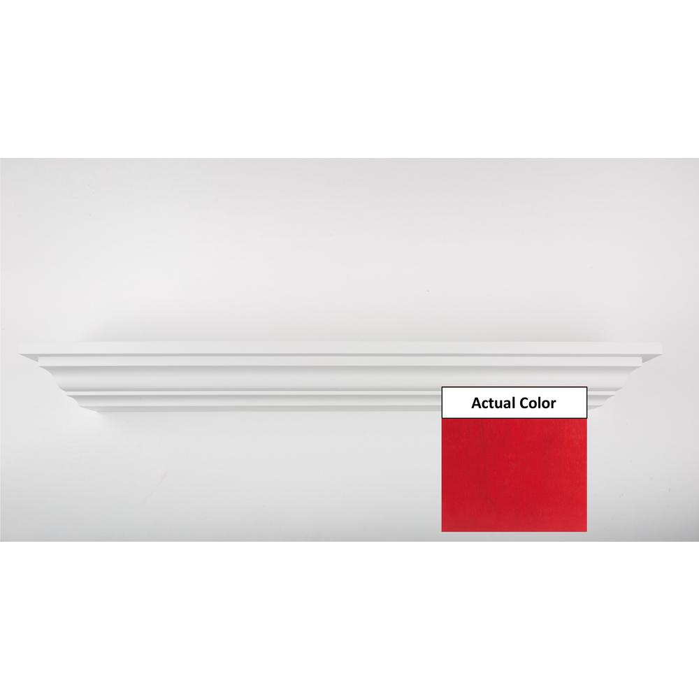 60 in. L x 5 in. D Floating Red Crown Molding