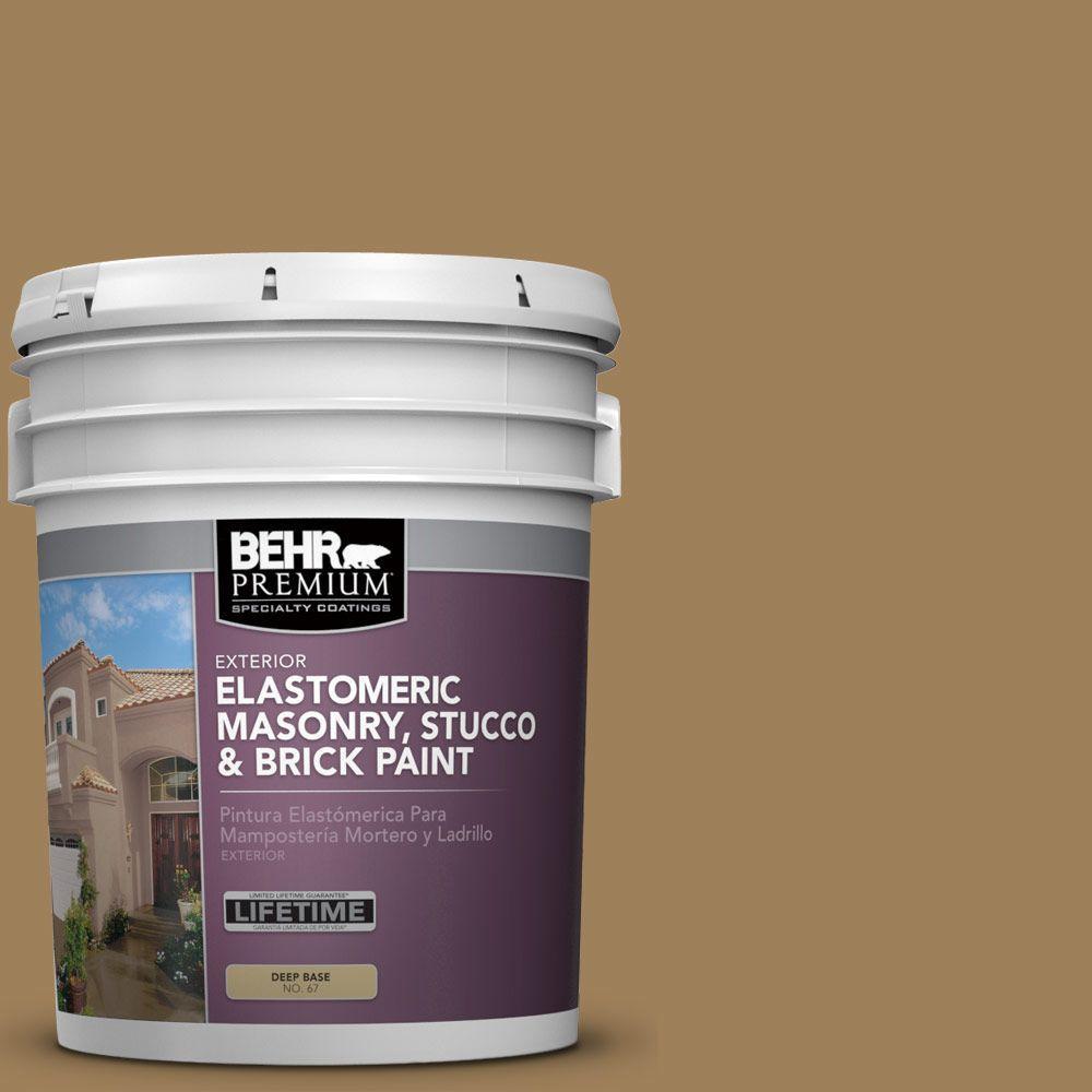 5 gal. #MS-45 Tuscany Gold Elastomeric Masonry, Stucco and Brick Exterior Paint