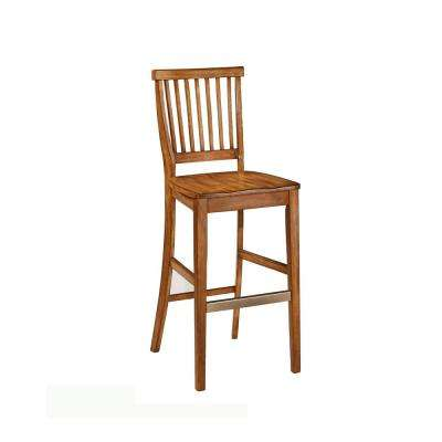 Americana 29 in. Oak Bar Stool