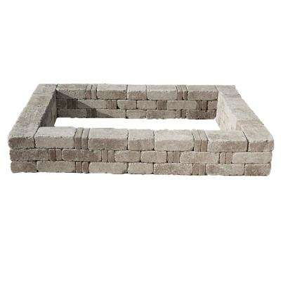 RumbleStone 49 in. x 49 in. x 10.5 in. Greystone Concrete Raised Garden Bed