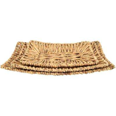 Natural Fiber Water Hyacinth Plate (Set of 3)