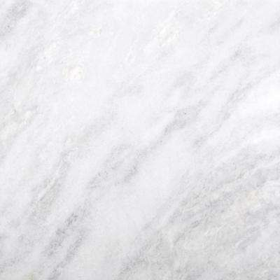 Marble Kalta Bianco Polished 24.02 in. x 24.02 in. Marble Floor and Wall Tile