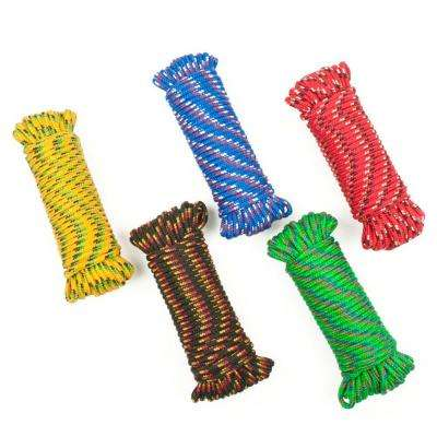 3/16 in. x 50 ft. Polypropylene Diamond Braid Rope, Assorted Colors