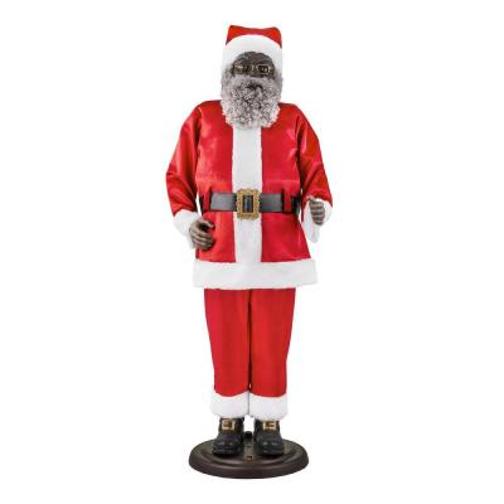 72 in. Animated Dancing Ethnic Santa with Seasonal Music