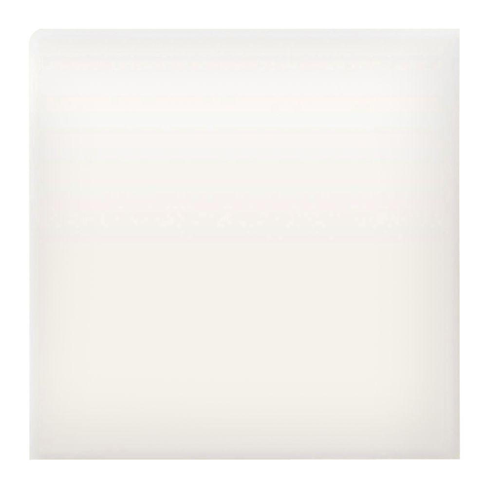 Matte 4-1/4 in. x 4-1/4 in. Arctic White Ceramic Bullnose Wall