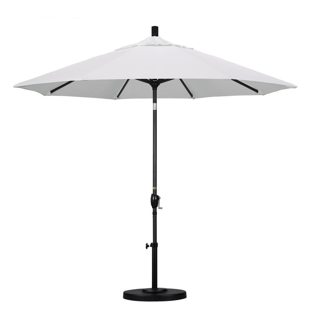 9 ft. Aluminum Push Tilt Patio Umbrella in Natural Pacifica