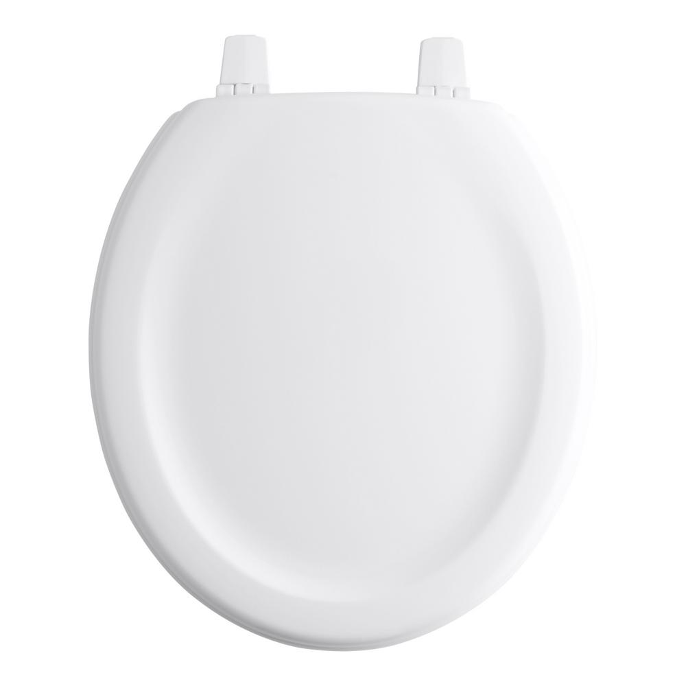 Marvelous Kohler Standard Closed Stonewood Round Front Toilet Seat In White Machost Co Dining Chair Design Ideas Machostcouk