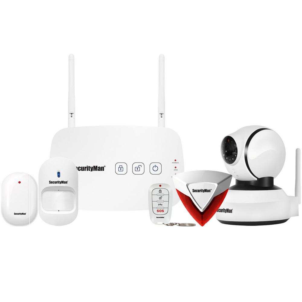 Mobile App Based Wireless Home Security Alarm System with Pan-Tilt WiFi