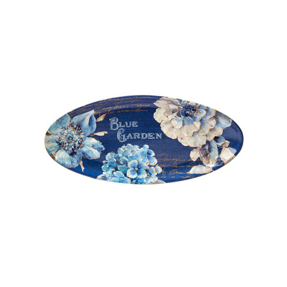 Certified International Indigold Blue Ceramic19.5 in. x 8.75 in. Oval Platter