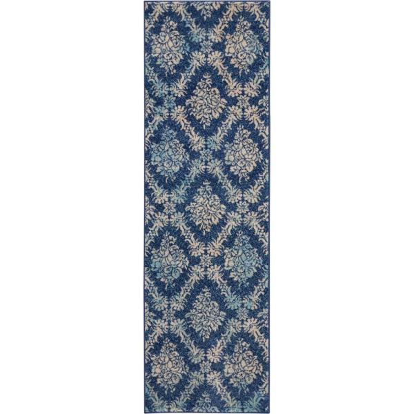 Nourison Tranquil Tra09 Navy Blue 2 Ft