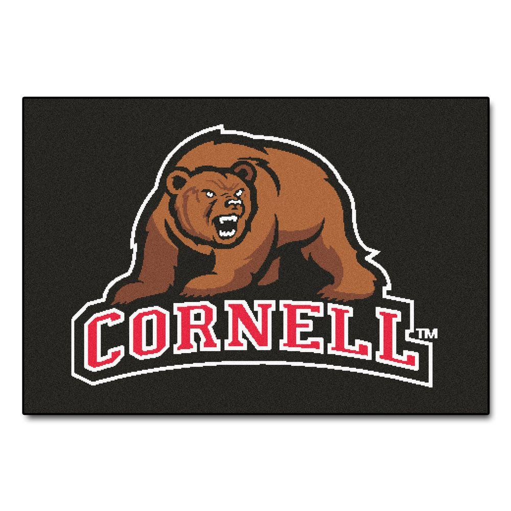 NCAA Cornell University Black 5 ft. x 6 ft. Area Rug