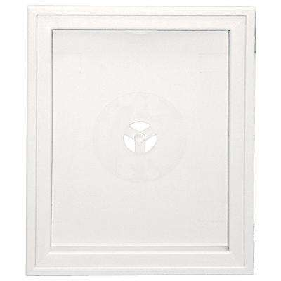 6.75 in. x 8.75 in. #117 Bright White Large Recessed Universal Mounting Block