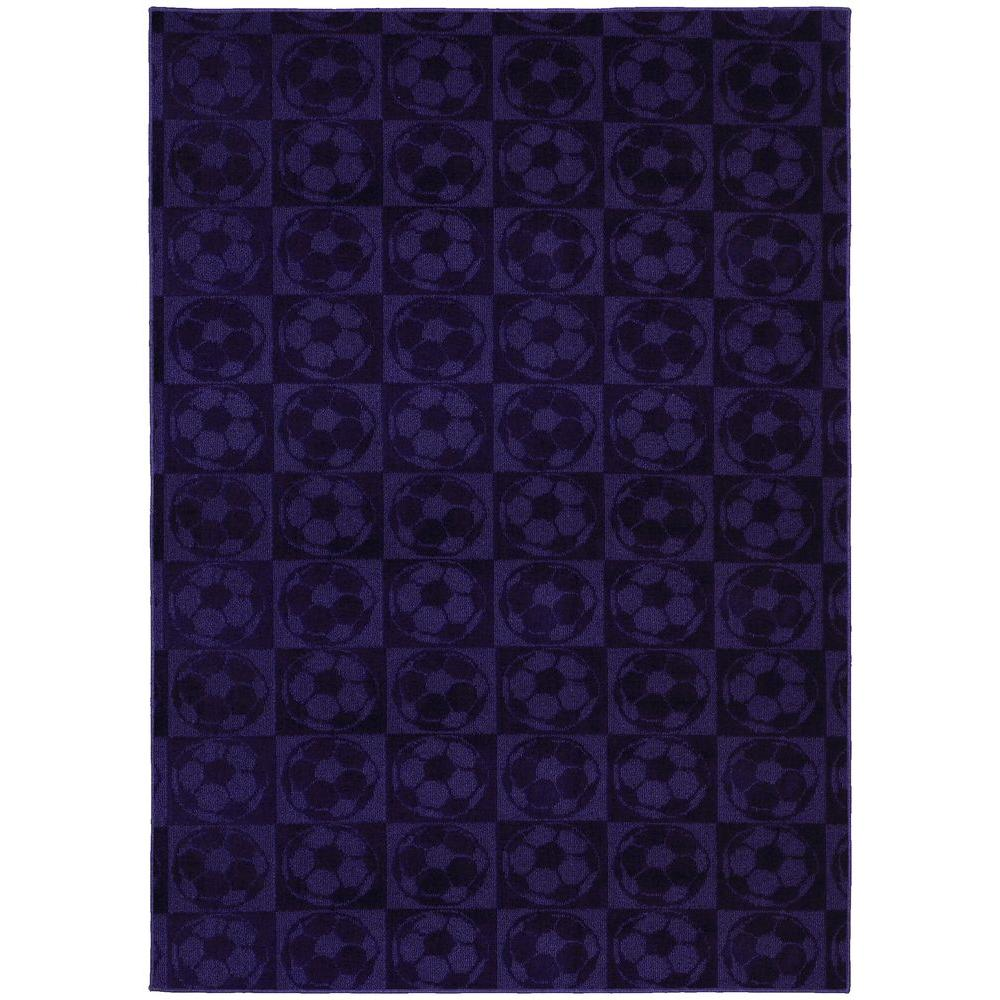 Garland Rug Soccer Balls Purple 5 Ft X 7 Ft Area Rug Cl260a06008488 The Home Depot