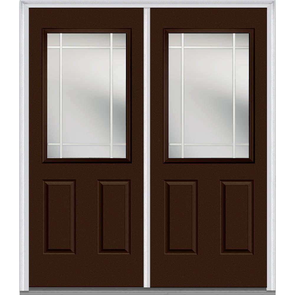 Mmi door 72 in x 80 in prairie internal muntins right for 72 x 80 exterior door