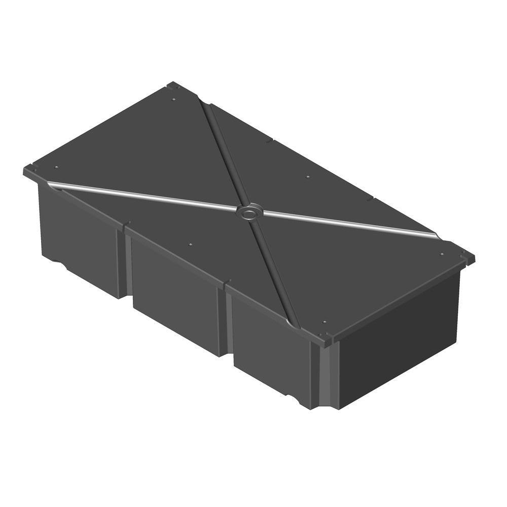 36 in. x 72 in. x 16 in. Dock System Float Drum, Black