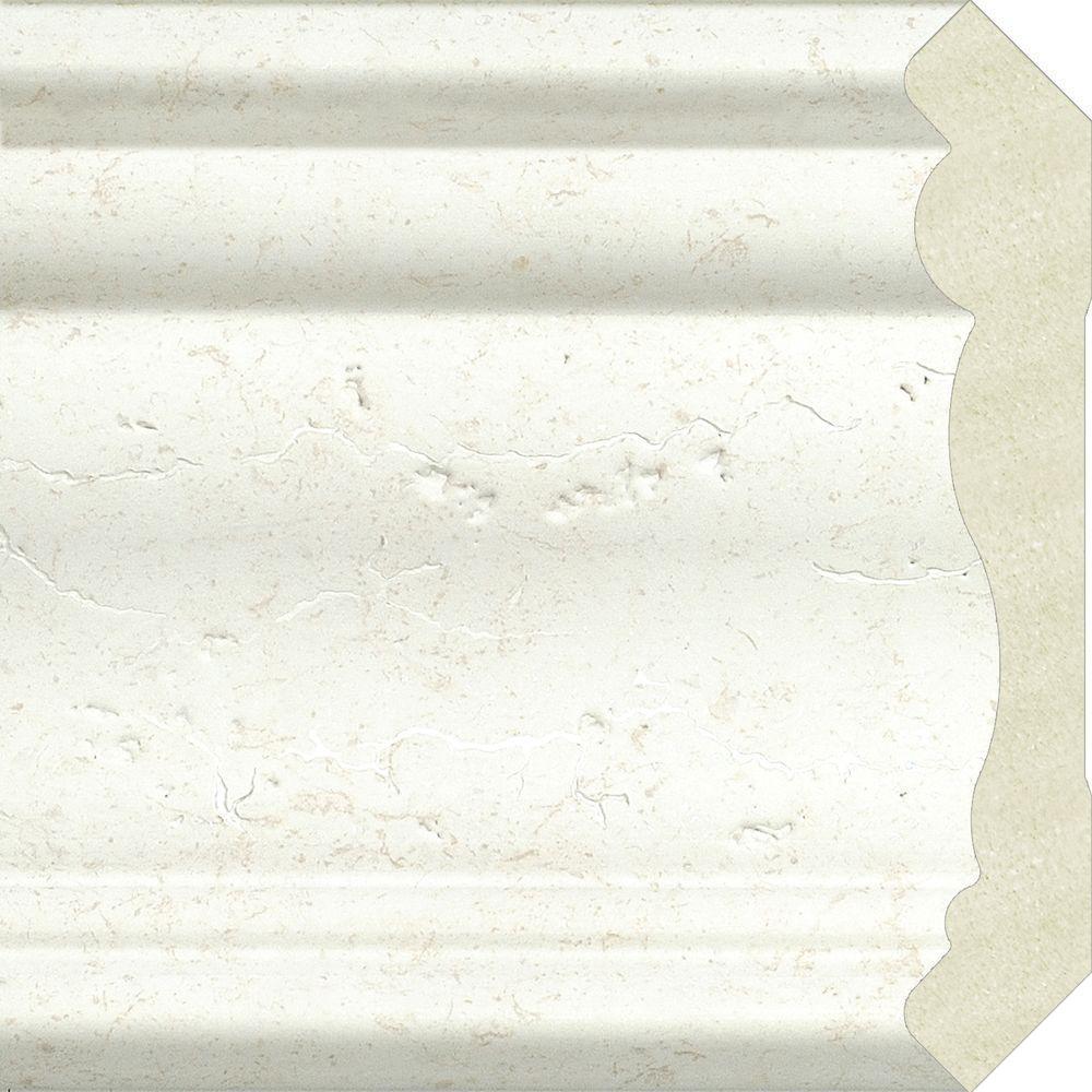 Veranda 0 75 In X 1 In X 4 Ft White Vinyl Lattice Cap