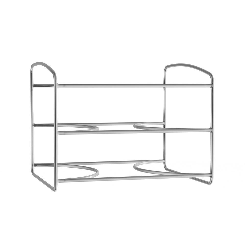 3-Tier Chrome Kitchen Wrap Storage Rack Pantry Organizer