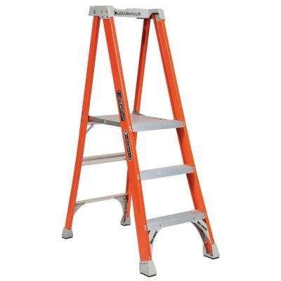 3 ft. Fiberglass Pinnacle Platform Ladder with 300 lbs. Load Capacity Type IA Duty Rating