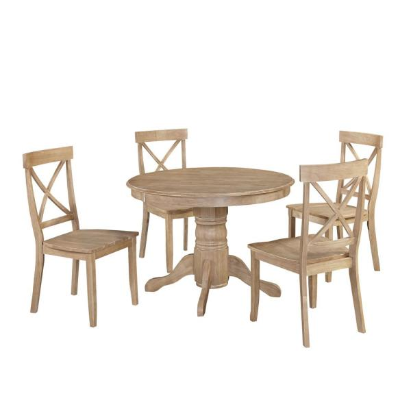 Clic 5 Piece White Wash Dining Set